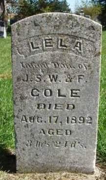 COLE, LELA - Madison County, Iowa | LELA COLE