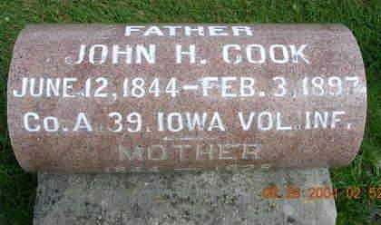 COOK, JOHN HAMILTON - Madison County, Iowa | JOHN HAMILTON COOK