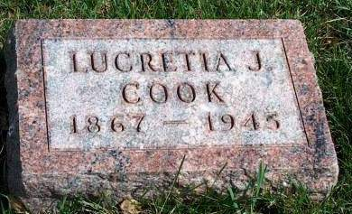 COOK, LUCRETIA JANE - Madison County, Iowa | LUCRETIA JANE COOK