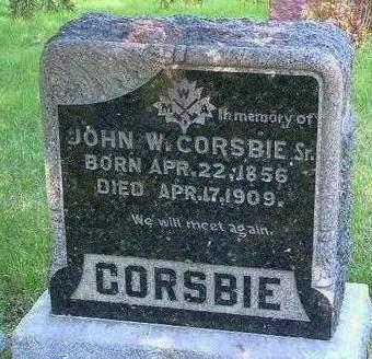 CORSBIE, JOHN W. - Madison County, Iowa | JOHN W. CORSBIE