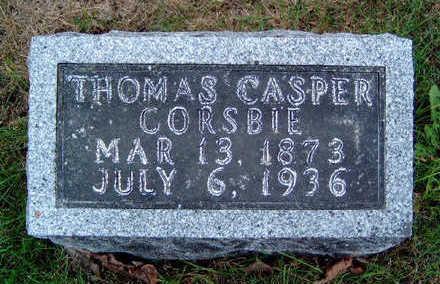 CORSBIE, THOMAS CASPER - Madison County, Iowa   THOMAS CASPER CORSBIE