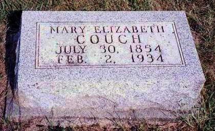 COUCH, MARY ELIZABETH - Madison County, Iowa   MARY ELIZABETH COUCH
