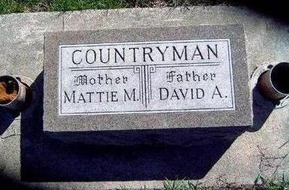 COUNTRYMAN, DAVID ALFRED - Madison County, Iowa   DAVID ALFRED COUNTRYMAN