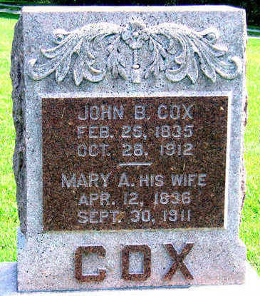 COX, MARY A. - Madison County, Iowa | MARY A. COX
