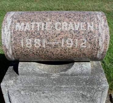 CRAVEN, MATTIE E. - Madison County, Iowa   MATTIE E. CRAVEN