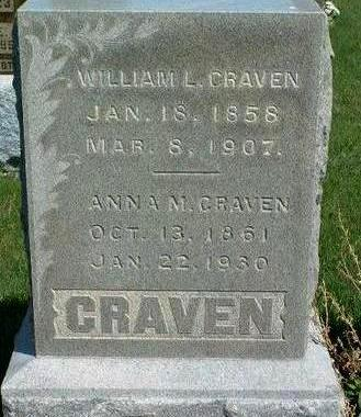 CRAVEN, WILLIAM LEWIS - Madison County, Iowa | WILLIAM LEWIS CRAVEN