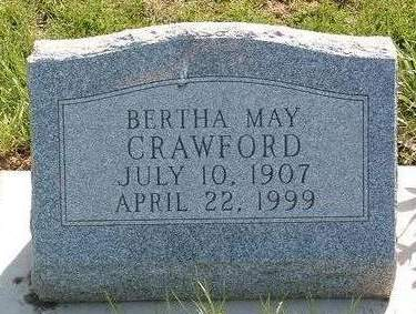 CRAWFORD, BERTHA MAY - Madison County, Iowa | BERTHA MAY CRAWFORD