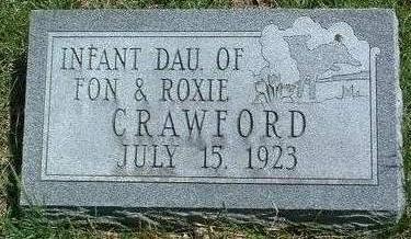 CRAWFORD, INFANT - Madison County, Iowa | INFANT CRAWFORD
