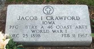 CRAWFORD, JACOB ISAAC - Madison County, Iowa   JACOB ISAAC CRAWFORD