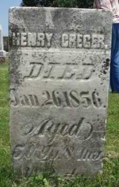CREGER, HENRY - Madison County, Iowa | HENRY CREGER