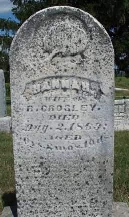 CROSLEY, HANNAH - Madison County, Iowa | HANNAH CROSLEY