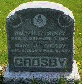 CROSBY, MARY JANE - Madison County, Iowa   MARY JANE CROSBY