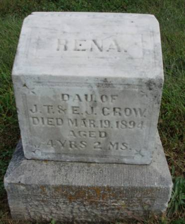 CROW, RENA - Madison County, Iowa | RENA CROW