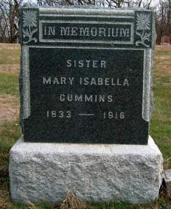 CUMMINS, MARY ISABELLA - Madison County, Iowa | MARY ISABELLA CUMMINS