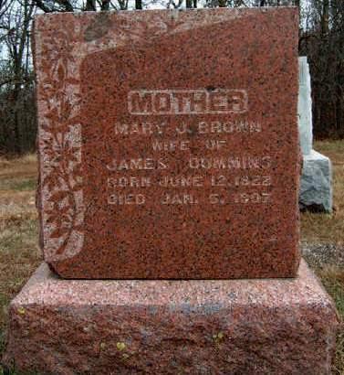 CUMMINS, MARY JANE - Madison County, Iowa   MARY JANE CUMMINS