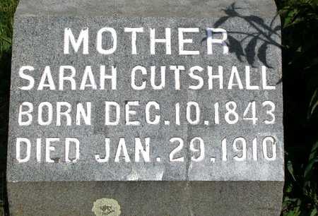 CUTSHALL, SARAH - Madison County, Iowa   SARAH CUTSHALL