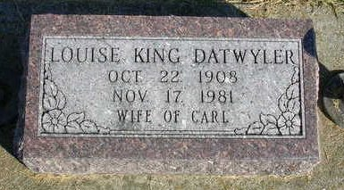 DATWYLER, LOUISE - Madison County, Iowa | LOUISE DATWYLER