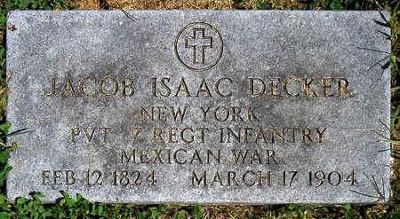 DECKER, JACOB ISAAC - Madison County, Iowa   JACOB ISAAC DECKER