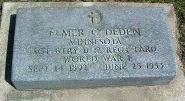 DEDEN, ELMER CARL - Madison County, Iowa | ELMER CARL DEDEN