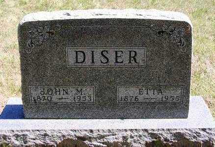 DISER, ETTA - Madison County, Iowa | ETTA DISER