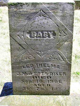DISER, LEO THELMA - Madison County, Iowa | LEO THELMA DISER