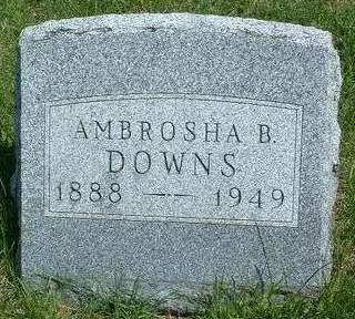 DOWNS, AMBROSHA BLANCHE - Madison County, Iowa   AMBROSHA BLANCHE DOWNS