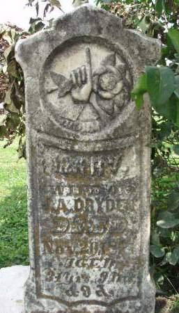 DRYDEN, MARY ANN - Madison County, Iowa | MARY ANN DRYDEN