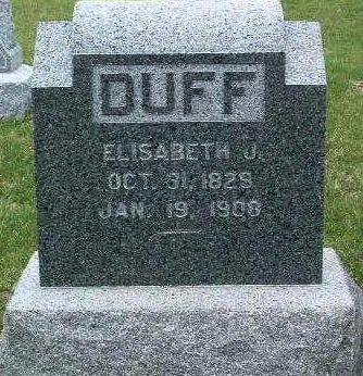 DUFF, ELISABETH JANE - Madison County, Iowa | ELISABETH JANE DUFF