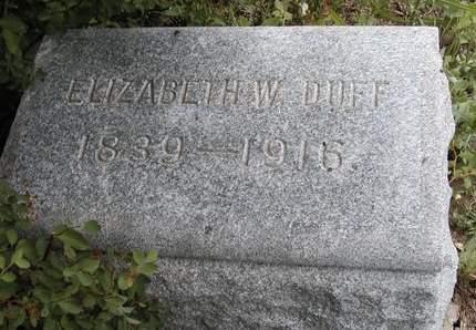 DUFF, ELIZABETH W. - Madison County, Iowa | ELIZABETH W. DUFF