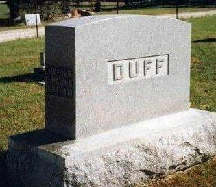 DUFF, FAMILY HEADSTONE - Madison County, Iowa | FAMILY HEADSTONE DUFF