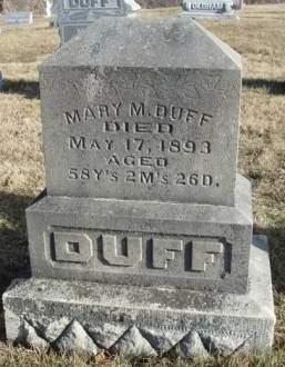 DUFF, MARY MATILDA - Madison County, Iowa   MARY MATILDA DUFF
