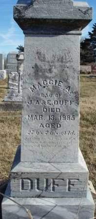 DUFF, MAGGIE A. - Madison County, Iowa | MAGGIE A. DUFF