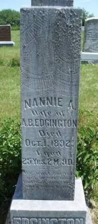 EDGINGTON, NANCY ANN (NANNIE) - Madison County, Iowa | NANCY ANN (NANNIE) EDGINGTON