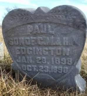 EDGINGTON, PAUL - Madison County, Iowa | PAUL EDGINGTON