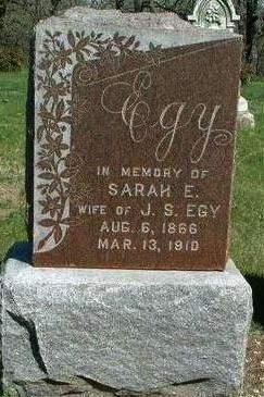 EGY, SARAH ELIZABETH - Madison County, Iowa | SARAH ELIZABETH EGY