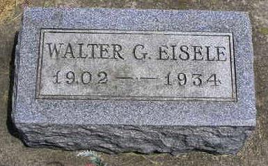 EISELE, WALTER CARL GERHARDT - Madison County, Iowa | WALTER CARL GERHARDT EISELE
