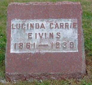 EIVINS, LUCINDA CARRIE - Madison County, Iowa | LUCINDA CARRIE EIVINS