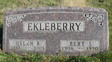EKLEBERRY, BERT IRVIN - Madison County, Iowa | BERT IRVIN EKLEBERRY