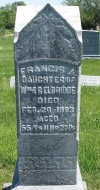 ELDRIDGE, FRANCIS ANN - Madison County, Iowa | FRANCIS ANN ELDRIDGE