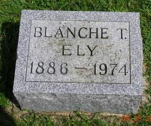 ELY, BLANCHE T. - Madison County, Iowa   BLANCHE T. ELY
