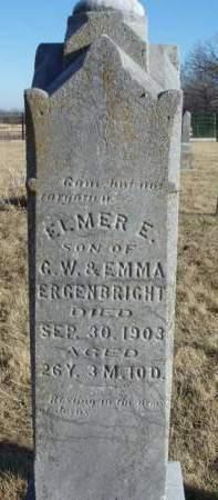 ERGENBRIGHT, ELMER E. - Madison County, Iowa | ELMER E. ERGENBRIGHT