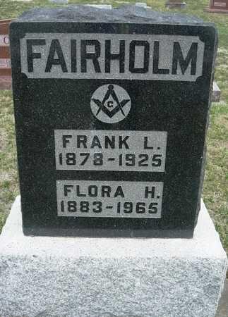 FAIRHOLM, FLORA HANNAH - Madison County, Iowa | FLORA HANNAH FAIRHOLM