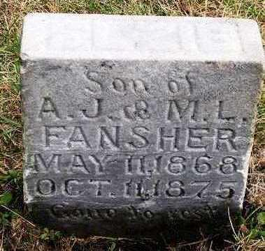 FANSHER, JOHN ELZIE - Madison County, Iowa   JOHN ELZIE FANSHER