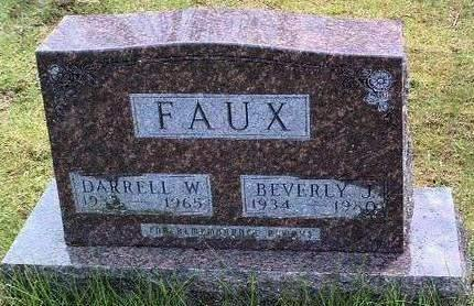 FAUX, BEVERLY JEAN - Madison County, Iowa   BEVERLY JEAN FAUX
