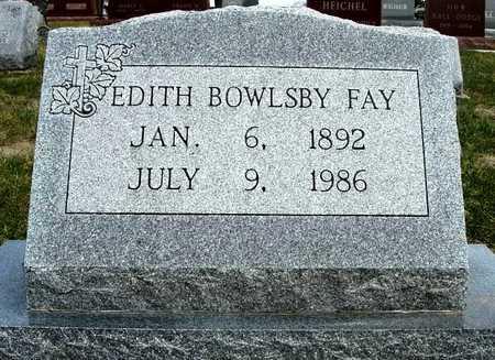 FAY, EDITH - Madison County, Iowa   EDITH FAY