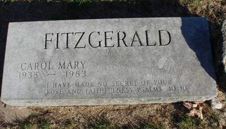 FITZGERALD, CAROL MARY - Madison County, Iowa | CAROL MARY FITZGERALD