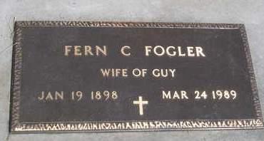 FOGLER, FERN CORA - Madison County, Iowa | FERN CORA FOGLER