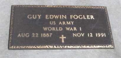 FOGLER, GUY EDWIN - Madison County, Iowa   GUY EDWIN FOGLER