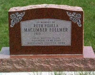 FOLLMER, RUTH FIDILLA - Madison County, Iowa | RUTH FIDILLA FOLLMER