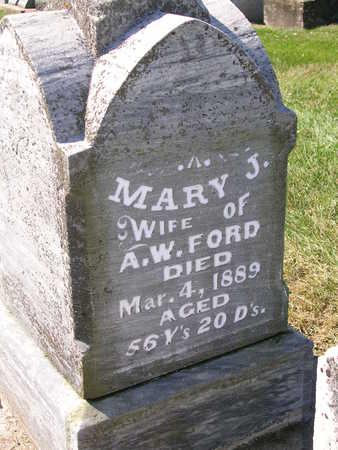 FORD, MARY JANE - Madison County, Iowa   MARY JANE FORD